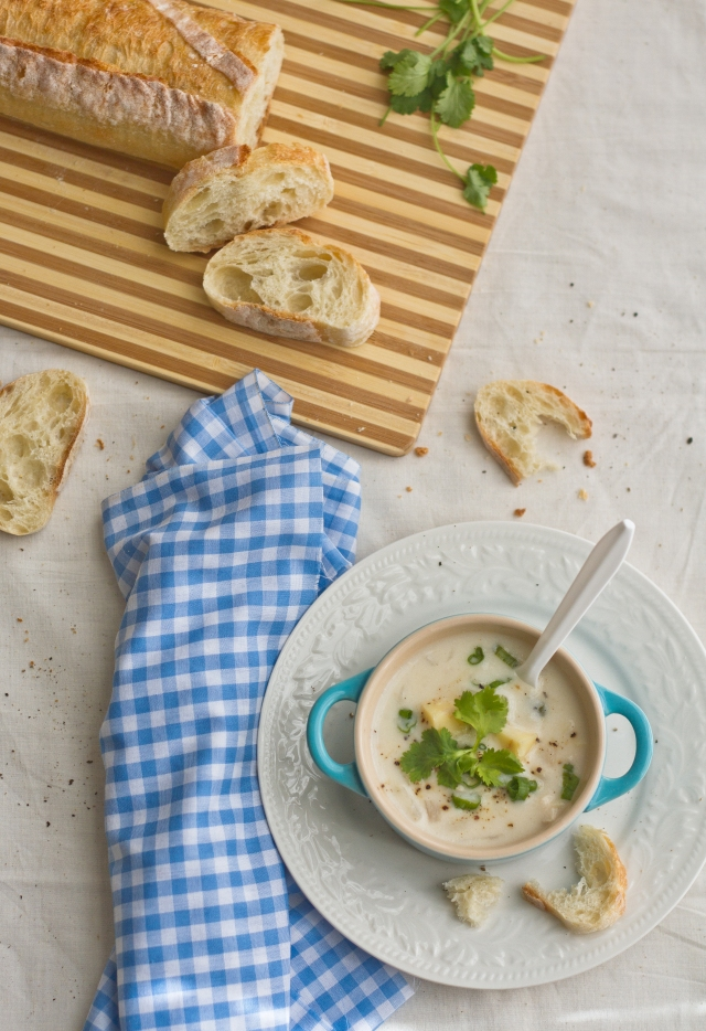 Fall Soup & Salad – Potato Chicken Chowder & Roasted Acorn ...