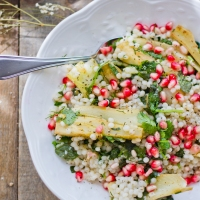 Couscous Fennel Pomegranate Herbal Salad