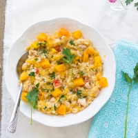 Butternut Squash Risotto with Lobster