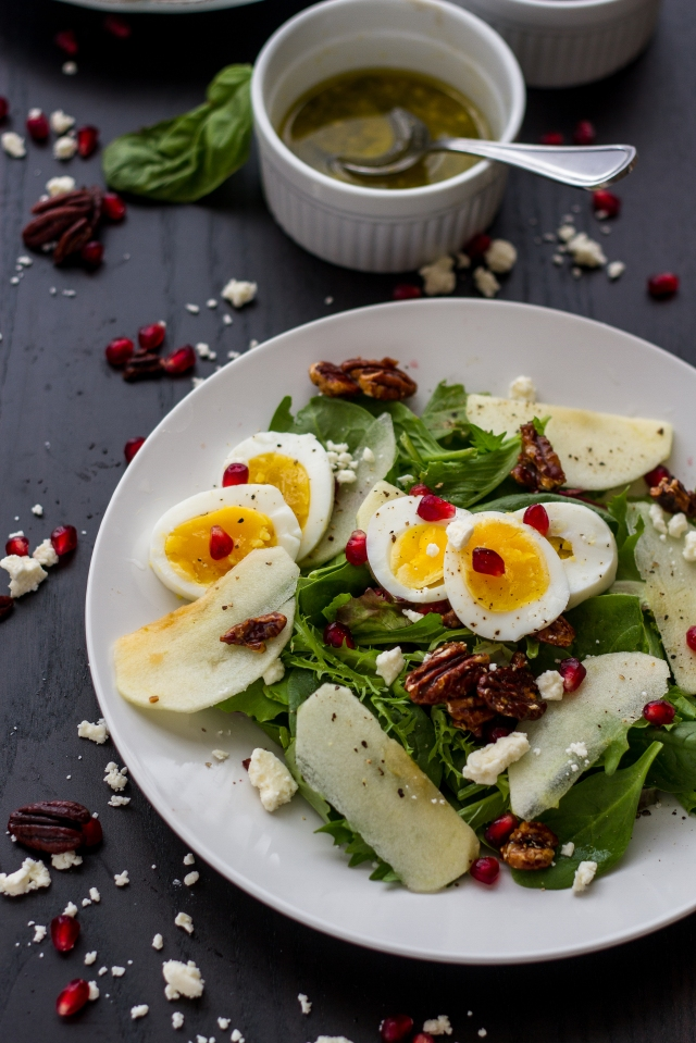 Apple Pomegranate Fall Salad-6