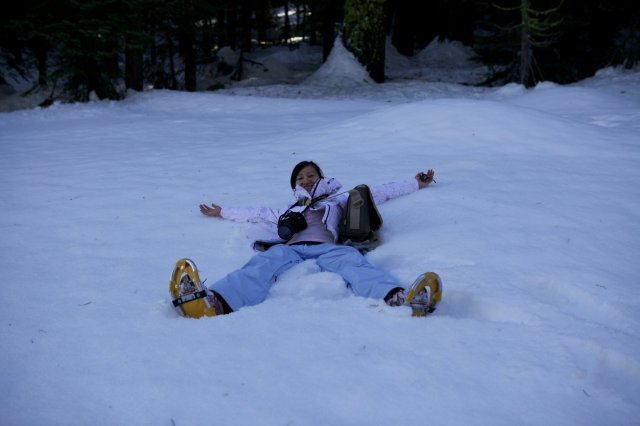 love the snow but not snowshoeing