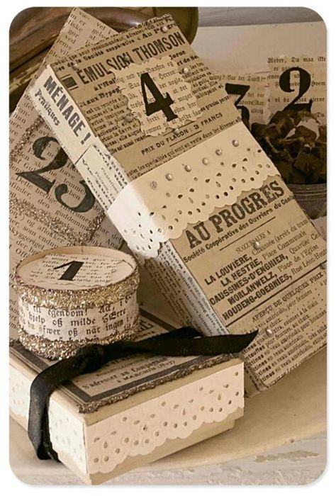 Recycle Newspaper or Old Book Wrap
