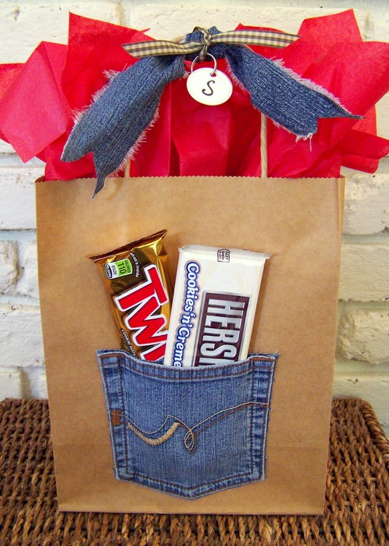 Old Jeans Pockets Gift Bag