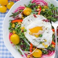 Sunny Arugula Salad with Pomegranate Vinaigrette