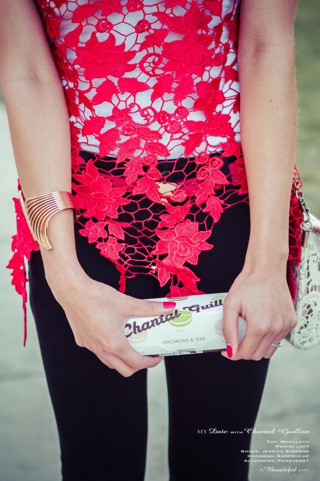 Red Lace & Black Jegging