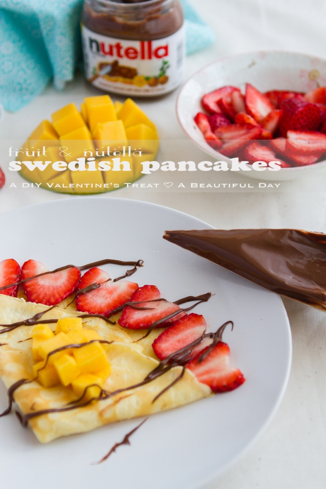 Fruit & Nutella Swedish Pancake