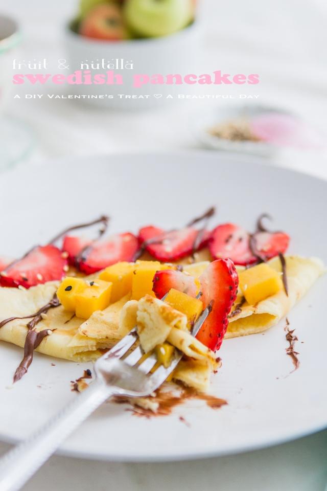 Fruit & Nutella Swedish Pancake