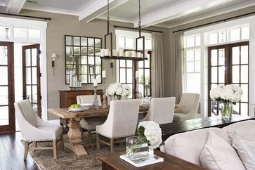 Cozy with rustic and upholstered chairs