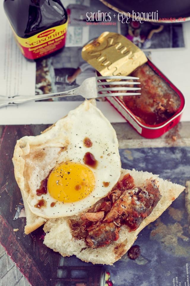 Sardines & Egg Baguette