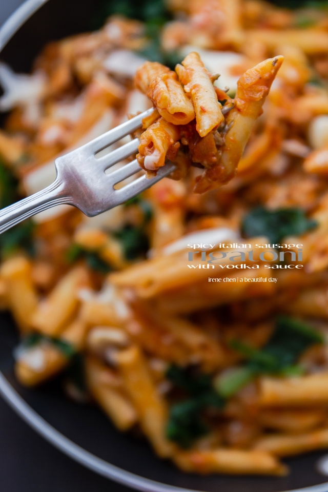Spicy Italian Sausage Pasta with Vodka Sauce | a beautiful day