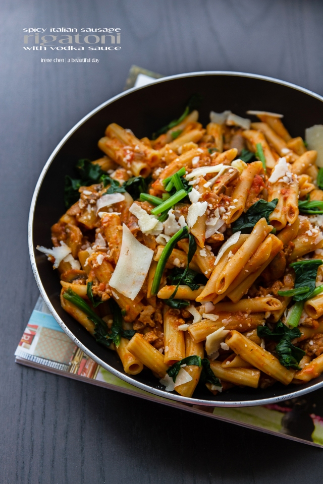 Spicy Italian Sausage Rigatoni with Vodka Sauce