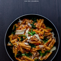 Spicy Italian Sausage Pasta with Vodka Sauce