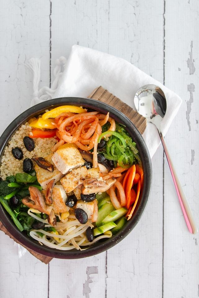 Quinoa Vegan Bibimbap 111215-3